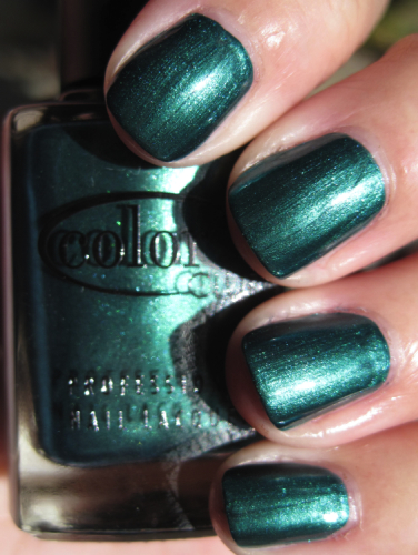 Color Club Rule Breaker Green Nail Polish for St. Patricks Day!!!