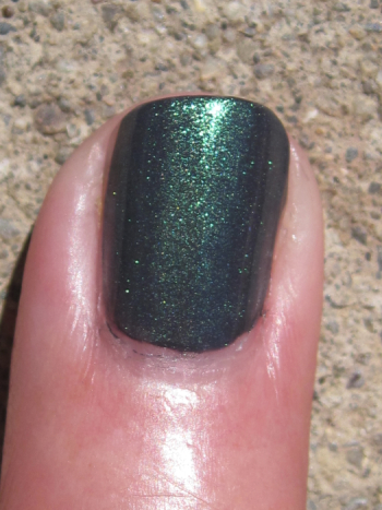 CND Asphalt with Emerald Shimmer