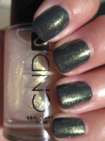 CND Asphalt with Jade Sparkle