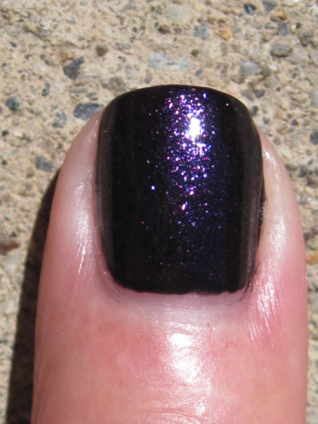 CND Blackjack with Amethyst Sparkle