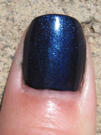 CND Blackjack with Ice Blue Shimmer
