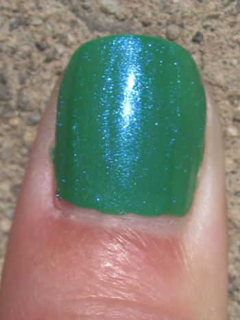 CND Green Scene with Ice Blue Shimmer