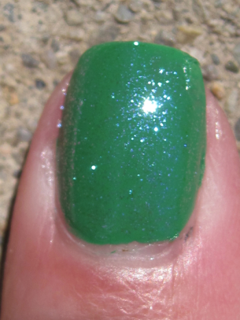 CND Green Scene with Sapphire Sparkle