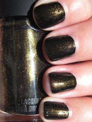 MAC Style Black Nail Lacquer Swatches & Review | Vampy Varnish