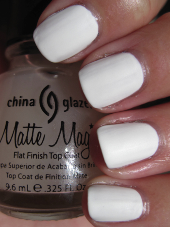 Alabaster With China Glaze Matte Magic