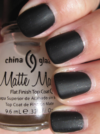 Dark Romance With China Glaze Matte Magic