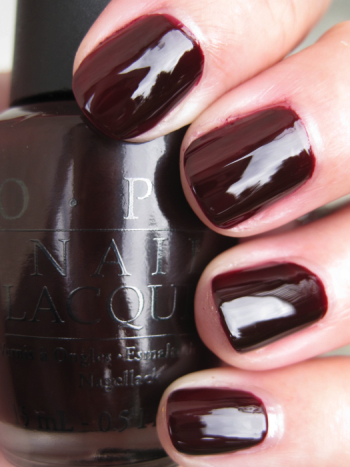 OPI All A Bordeaux The Sled OPI Holiday Wishes for Winter 2009 Swatches and Review