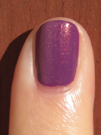 CND Electric Purple with Copper Shimmer Effect