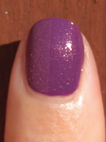 CND Electric Purple with Crimson Sparkle Effect
