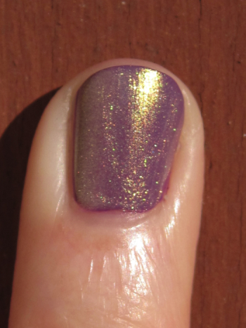 CND Electric Purple with Gold Shimmer Effect