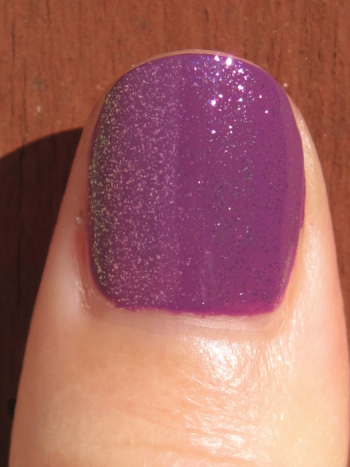 CND Electric Purple with Raspberry Sparkle Effect