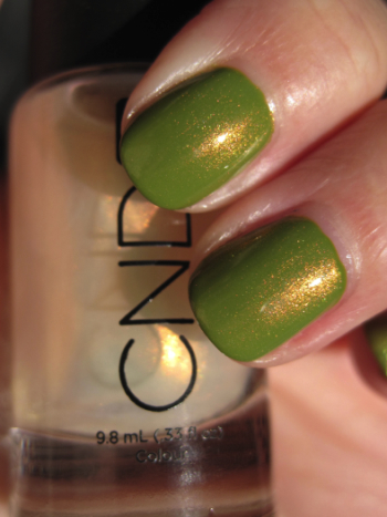L.A. Girl Flare with CND Copper Shimmer