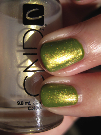 L.A. Girl Flare with CND Gold Shimmer