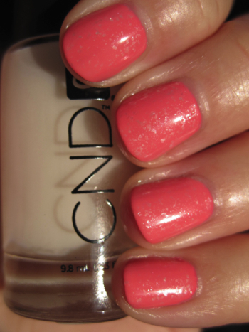 CND Sweet with Sugar Sparkle effect and matte top coat