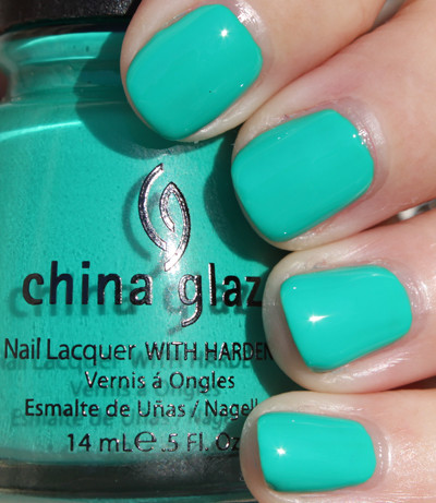 China Glaze Four Leaf Clover Green Nail Polish for St. Patricks Day!!!