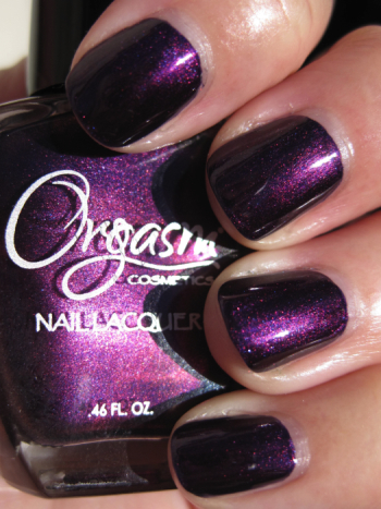 Orgasm Dripping Wet Orgasm Cosmetics Nail Lacquer Swatches and Review