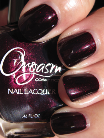 Orgasm Indecent Proposal Orgasm Cosmetics Nail Lacquer Swatches and Review