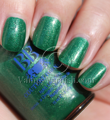 BB Couture Studio 54 Green Nail Polish for St. Patricks Day!!!