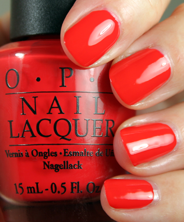 OPI Red My Fortune Cookie OPI Hong Kong Collection for Spring 2010 Swatches and Review   Part I