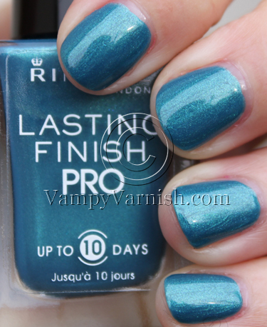 Rimmel Marine Blue Rimmel London Lasting Finish Pro Nail Enamel Swatches and Review