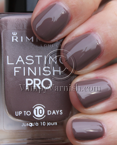 Rimmel Steel Gray Rimmel London Lasting Finish Pro Nail Enamel Swatches and Review