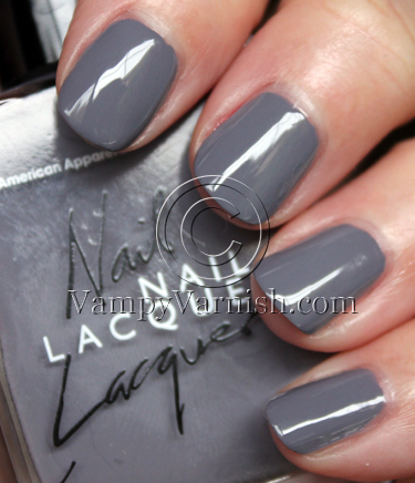 American Apparel Factory Grey Vampy Varnish Favs Featuring: Grey