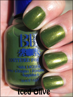 BB Couture Iced Olive copy Green Nail Polish for St. Patricks Day!!!