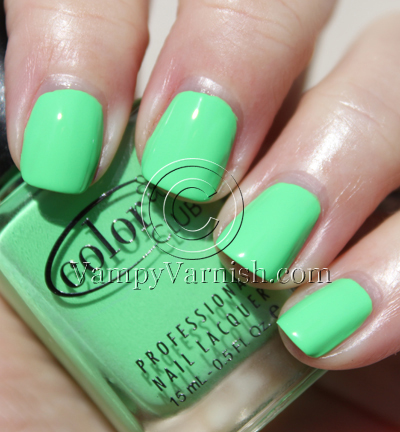 Color Club Rebel Deburante Green Nail Polish for St. Patricks Day!!!