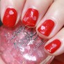 Essie Red Nouveau with Nicole Have A Heart