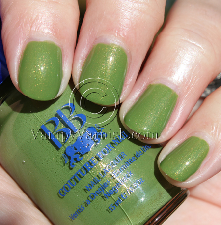 BB Couture Caterpillar Green Nail Polish for St. Patricks Day!!!