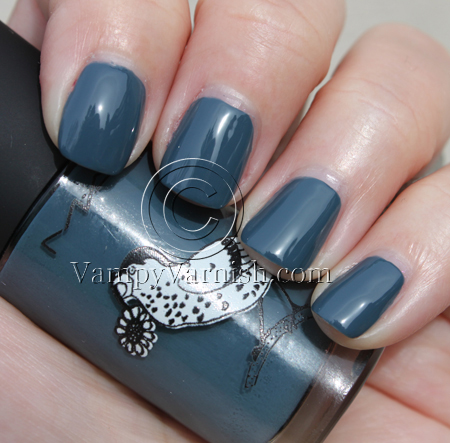 MAC Give Me Liberty Of London Blue India Nail Lacquer Swatches ...