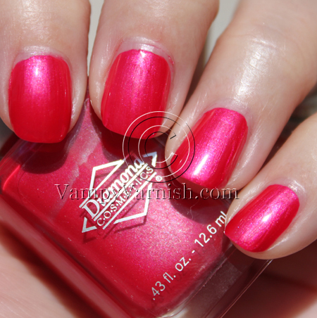 Diamond Cosmetics Gypsy Pink A Plethora of Red & Pink Nail Polish for Valentines Day