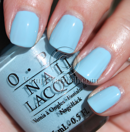 What s with the cattitudeOpi Nail Polish Light Blue