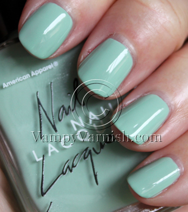 American Apparel Office Mint Green Nail Polish Comparisions