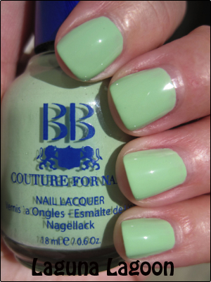 BB Couture Laguna Lagoon copy Mint Green Nail Polish Comparisions