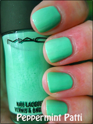 MAC Peppermint Patti copy Mint Green Nail Polish Comparisions