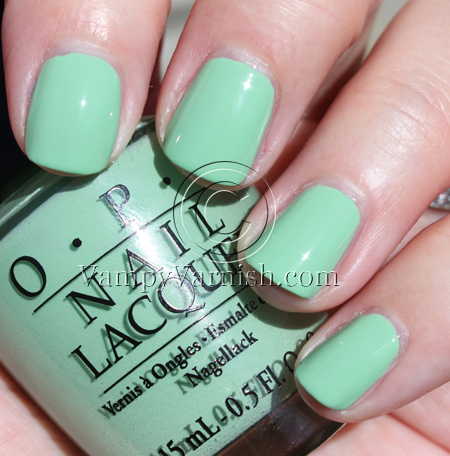 OPI Damone Roberts 19681 Mint Green Nail Polish Comparisions