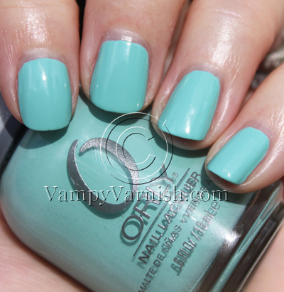 Orly Gumdrop Mint Green Nail Polish Comparisions