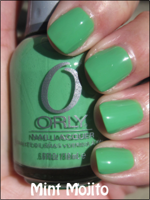 Orly Mint Mojito copy Mint Green Nail Polish Comparisions