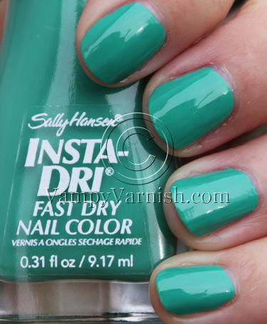 Sally Hansen Mint Sprint Mint Green Nail Polish Comparisions