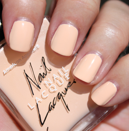 American Apparel Summer Peach American Apparel Nail Lacquer Summer 2010 Swatches & Review