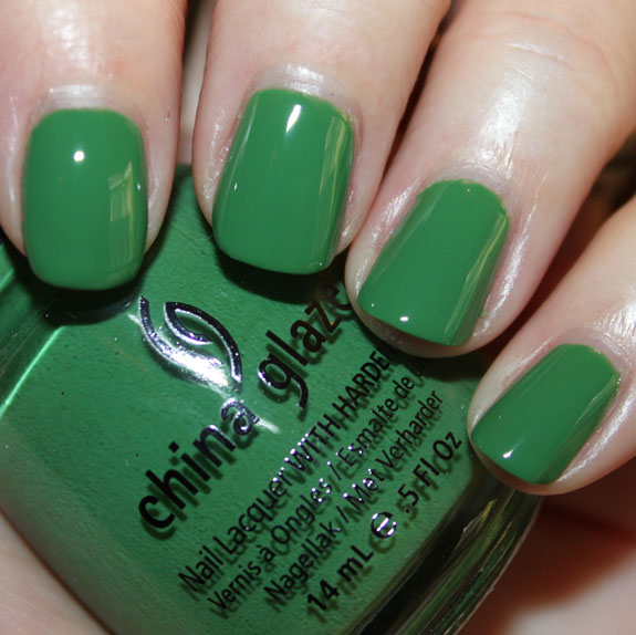 China Glaze Starboard Green Nail Polish for St. Patricks Day!!!