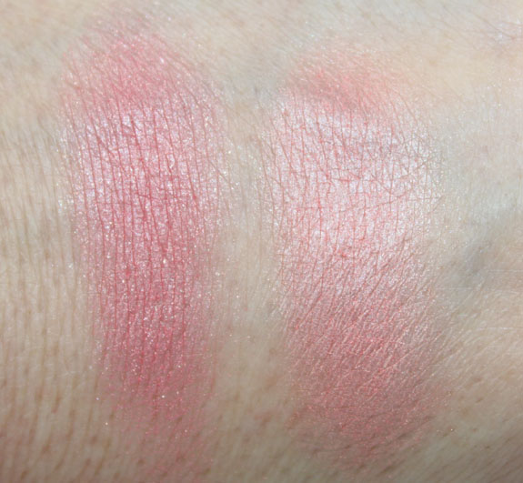 Benefit Bella Bamba and Coralista Swatch