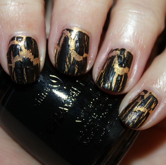 China Glaze Crackle Black Mesh