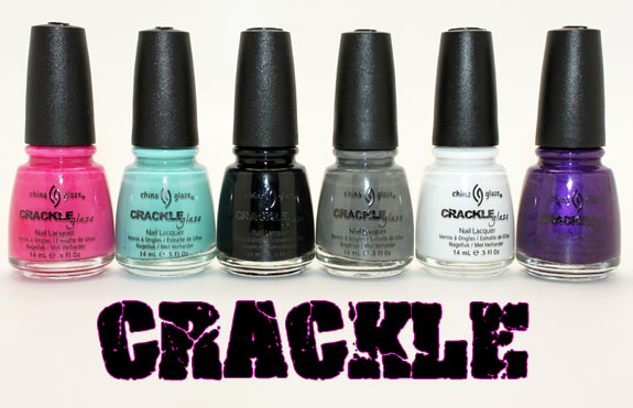 China Glaze Crackle1 China Glaze Crackle Collection for Spring 2011 Swatches & Review