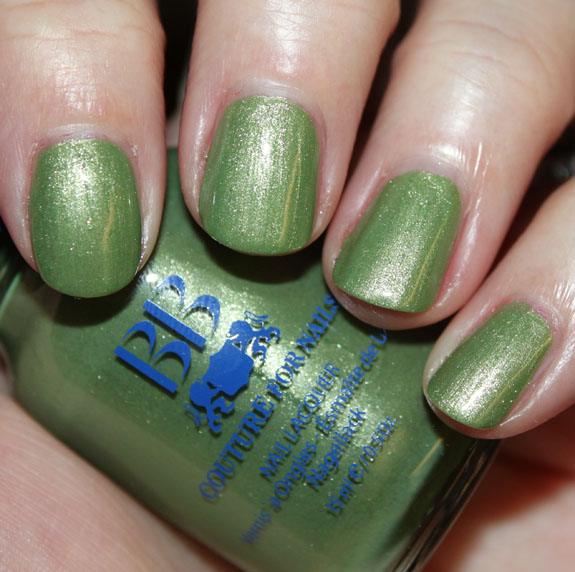 BB Couture A Touch Of Greece 3 Green Nail Polish for St. Patricks Day!!!