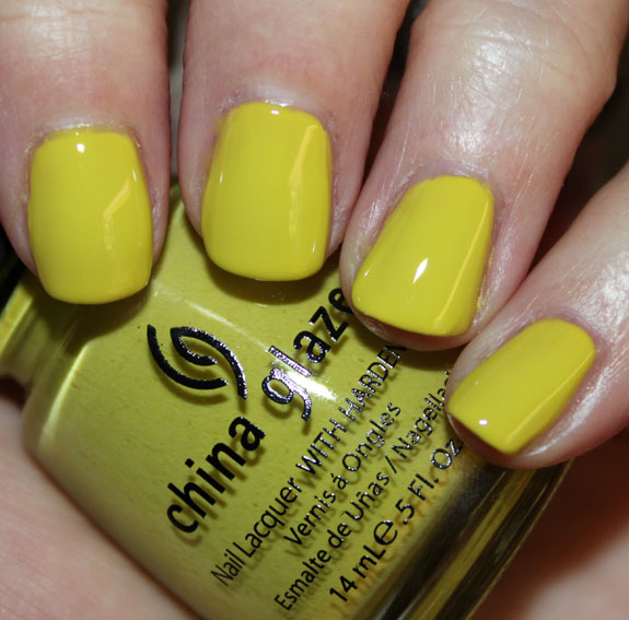 China Glaze Electric Pineapple China Glaze Island Escape for Summer 2011 Swatches, Photos & Review