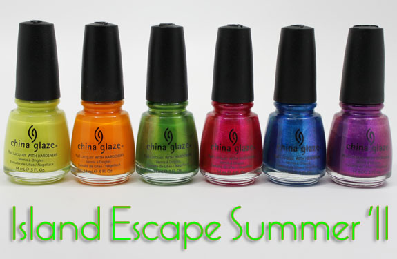 China Glaze Island Escape China Glaze Island Escape for Summer 2011 Swatches, Photos & Review