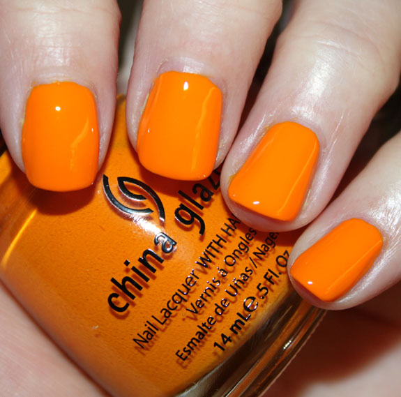 China Glaze Papaya Punch China Glaze Island Escape for Summer 2011 Swatches, Photos & Review