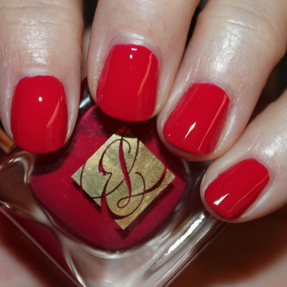 Estee Lauder Pure Color Nail Lacquer Fuchsia Flame Swatch